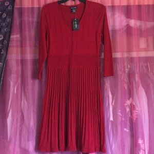 Max Edition Red Knit Dress